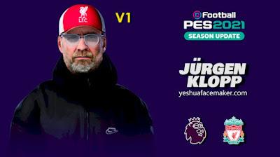 PES 2021 Faces Jürgen Klopp by Yeshua