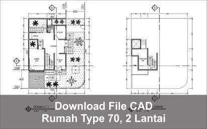 Download Rumah Type 70 2 Lantai File Autocad Via Google Drive Arsimedia