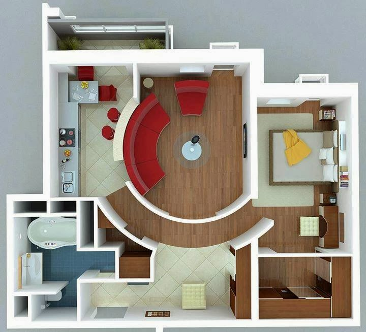 Apartment Solutions: Amazing Creativity: A Different Solutions For Small Apartments
