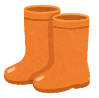 長靴のイラスト(オレンジ)
