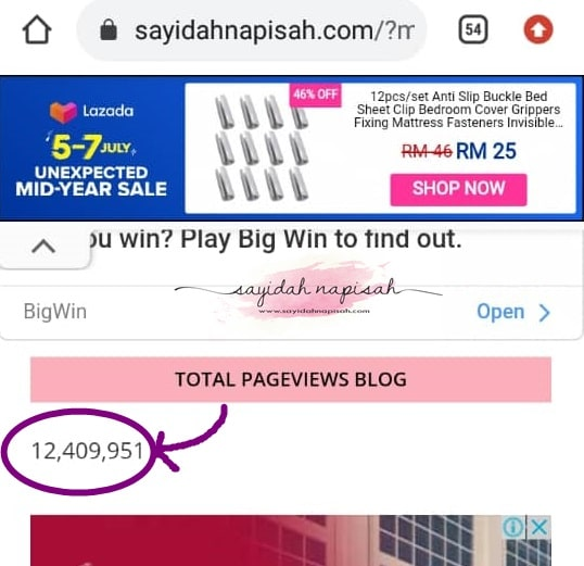 my life update + reach 12,400,000 pageviews (PV) & lets exchange bloglist!