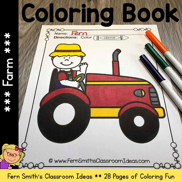 Farm Coloring Pages and Farm Animals Coloring Pages - 28 Pages Of Farm Coloring Fun! #FernSmithsClassroomIdeas