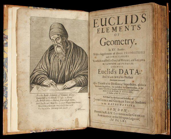 """""""Os Elementos de Euclides"""" é um livro incrível. Ler esse livro irá ajudá-lo com pensamento lógico e raciocínio dedutivo."""