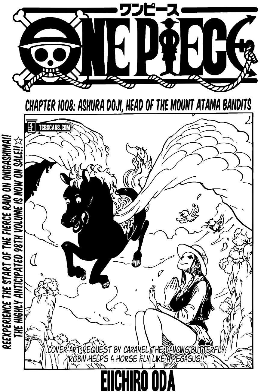 Read One Piece 1008 Manga Chapter - Ashura Douji, Head Of ...