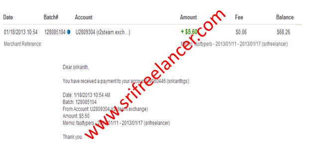 ONLINE CAPTCHA WORK: Payment proof