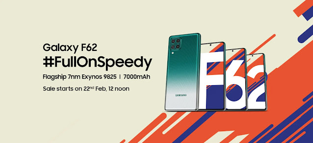 Sale of Samsung F62 starts on 22nd February - Features, Specs, and Price | TechNeg