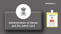 Administration of Daman and Diu Admit Card