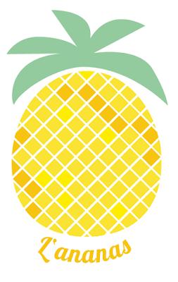 reduzierte L'ananas Illustration von Manuela Potthast by aprilliebe
