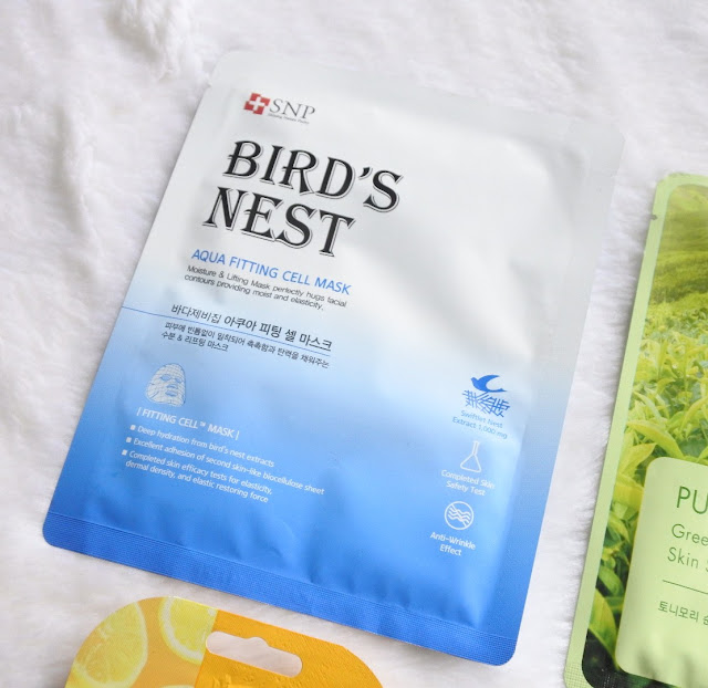 SNP Bird's Nest - Aqua Fitting Cell Mask
