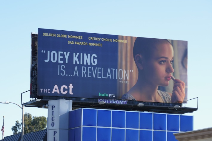 Joey King The Act award nominee billboard
