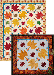 FALL LEAVES QUILT-QUILT PATTERN-FALL QUILT-LEAF QUILT-FALL DECOR-FALL LAP QUILT