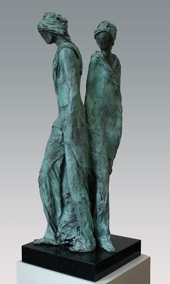 "Kieta Nuij - ""Liaison"" | imagenes de obras de arte contemporaneo tristes, esculturas bellas chidas | figurative art, sculptures | kunst"