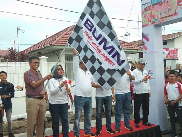 Dilepas Gubernur Irwan Prayitno, 2500 Karyawan BUMN Ikuti Ramah Jalan Sehat