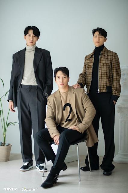 CN Blue dan BOICE (Blue of Voice) : Yong Hwa, Minhyuk, Jungshin