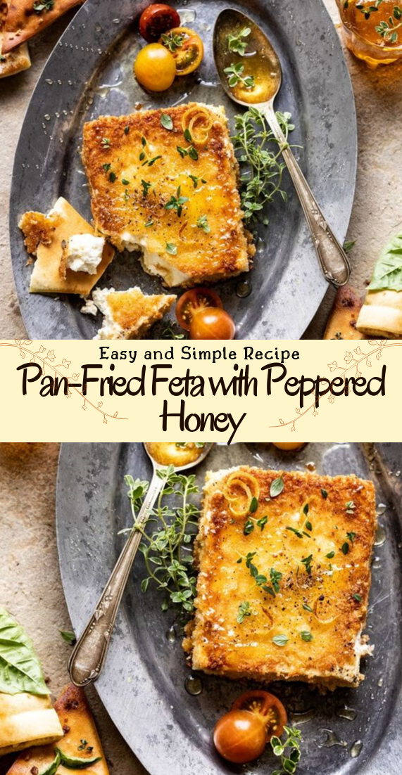 Pan-Fried Feta with Peppered Honey #healthyfood #dietketo #breakfast #food