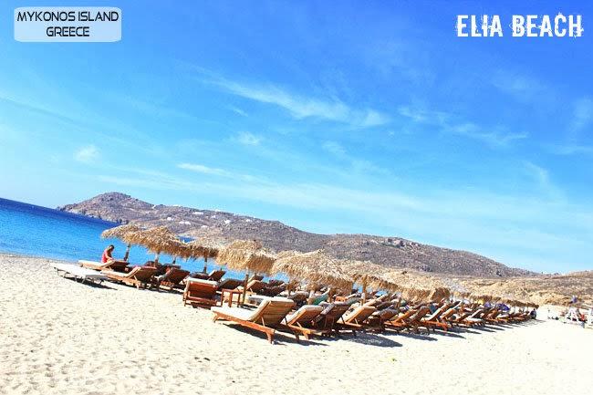 Elia beach photos Mykonos island.Elia plaza slike Mikonos ostrvo.