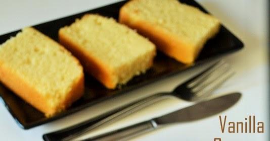 Basic vanilla sponge cake recipe bakery style vanilla for Basic vanilla sponge