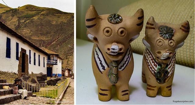 Museu Lítico de Pucará, Peru, e os touros de Pucará, artesanato local