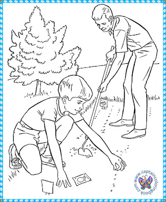 coloring pages vegetable garden