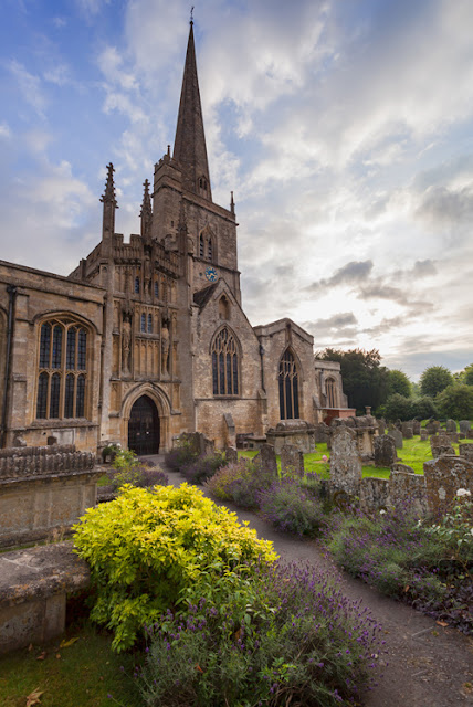 The beautiful wool church of St John's in Burford by by Martyn Ferry Photography