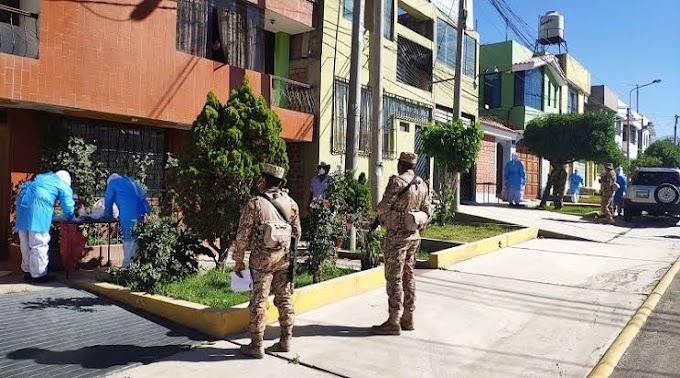 HOY LUNES REALIZARÁN PRUEBAS DE DESCARTE COVID-19 EN CINCO DISTRITOS DE AREQUIPA