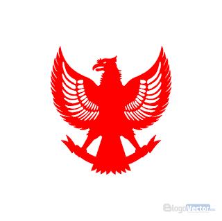 Garuda Pancasila silhouette Logo vector (.cdr)