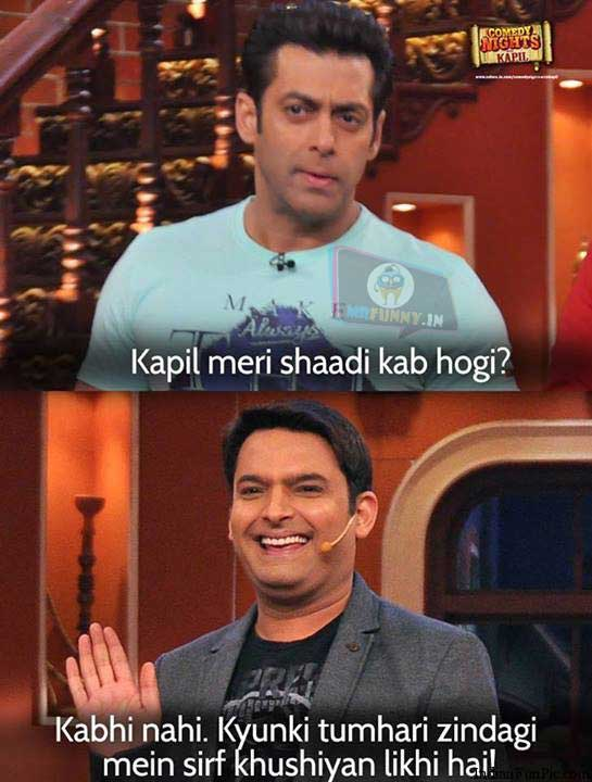 salman khan marriage answer by kapil sharma funny image jokes