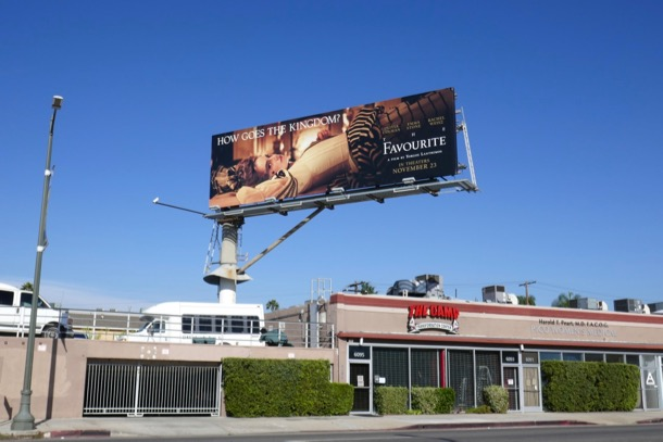 The Favourite film billboard