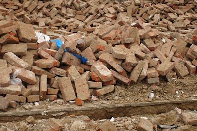 crushed bricks