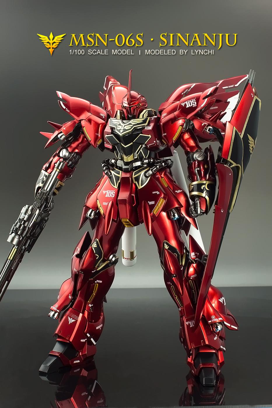 MG 1/100 Sinanju Ver Ka painted build - Gundam Kits ...
