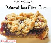 Oatmeal Jam Filled Bars