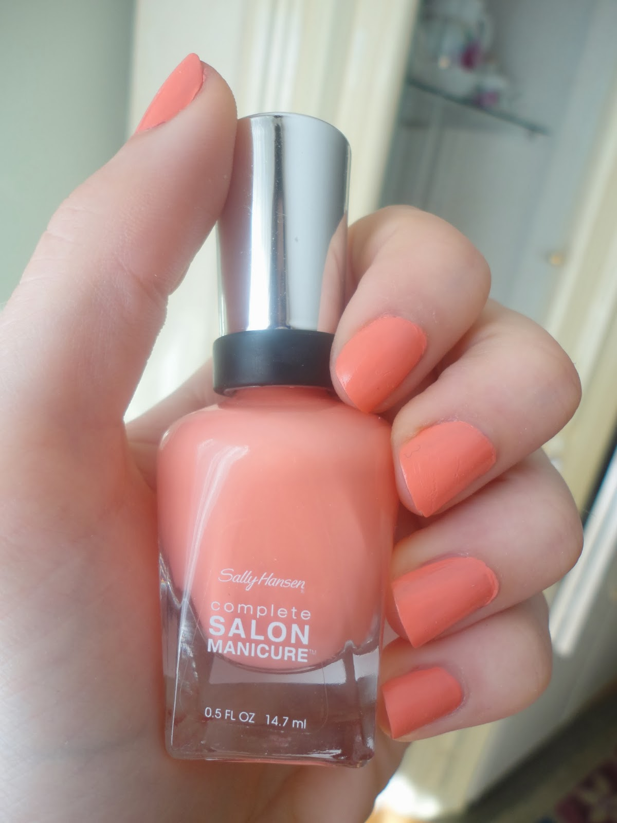 Sally Hansen Complete Salon Manicure Nail Polish In Quot Peach Of Cake Quot Natalie Loves Beauty