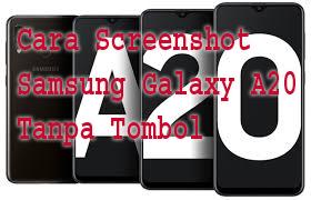 Cara Screenshot Samsung Galaxy A20 Tanpa Tombol 1