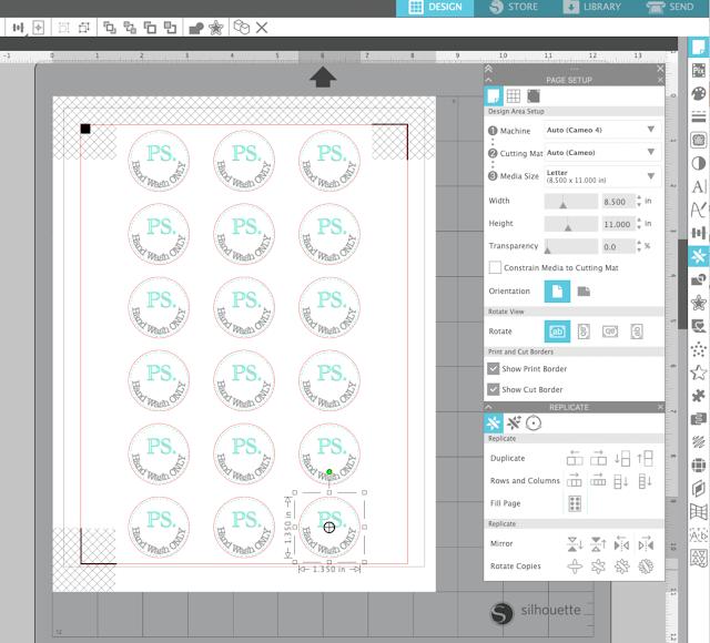 print and cut, beginner silhouette tutorial, sticker tutorial, silhouette tutorial, sticker paper, replicate tool