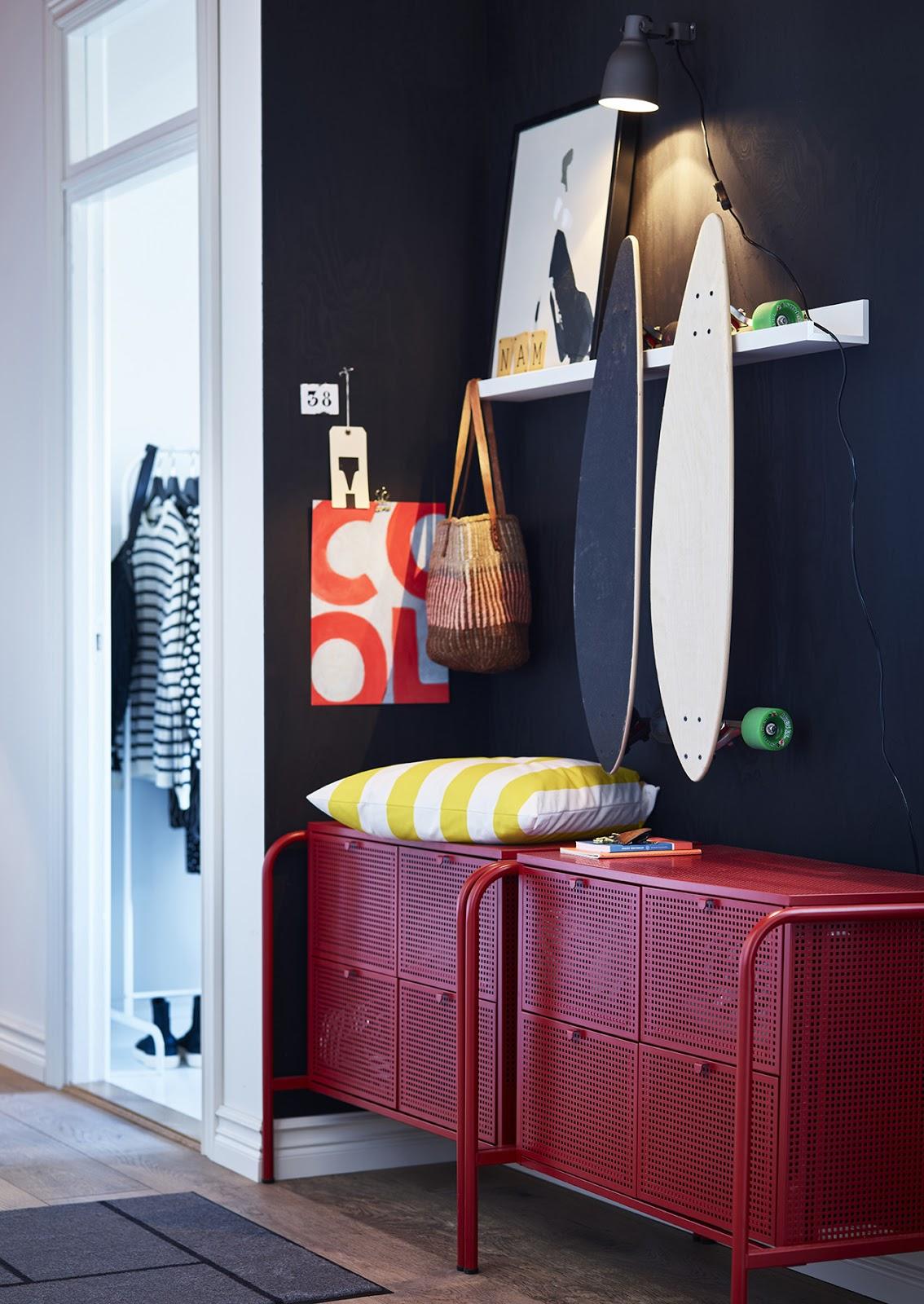 novedad catálogo ikea 2020 cómoda roja 4 cajones nikkeby NOVEDAD