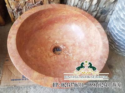 Model Wastafel Batu Alam