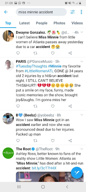 minnie car accident,succumbed,minnie ross hit and run accident
