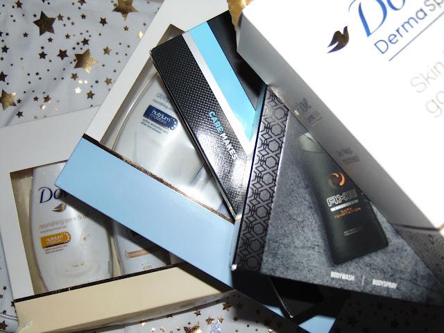 Magiczny czas pełen prezentów - Gotowe zestawy prezentowe Dove, Rexona i Axe