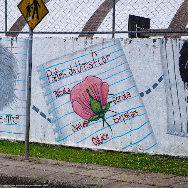 Grafite em muro de escola