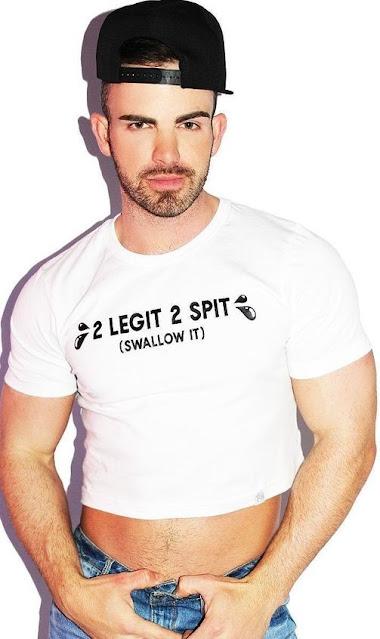 2 LEGIT 2 SPIT Swallow It tee shirt.  PYGear.com