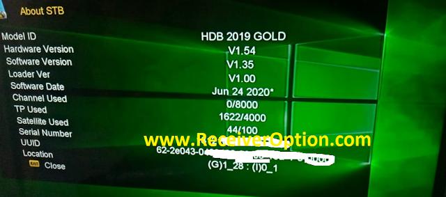HD BOX HDB 2019 GOLD NEW SOFTWARE  V1.35 24 JUNE 2020