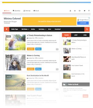 Minima Colored 2 template blogger free