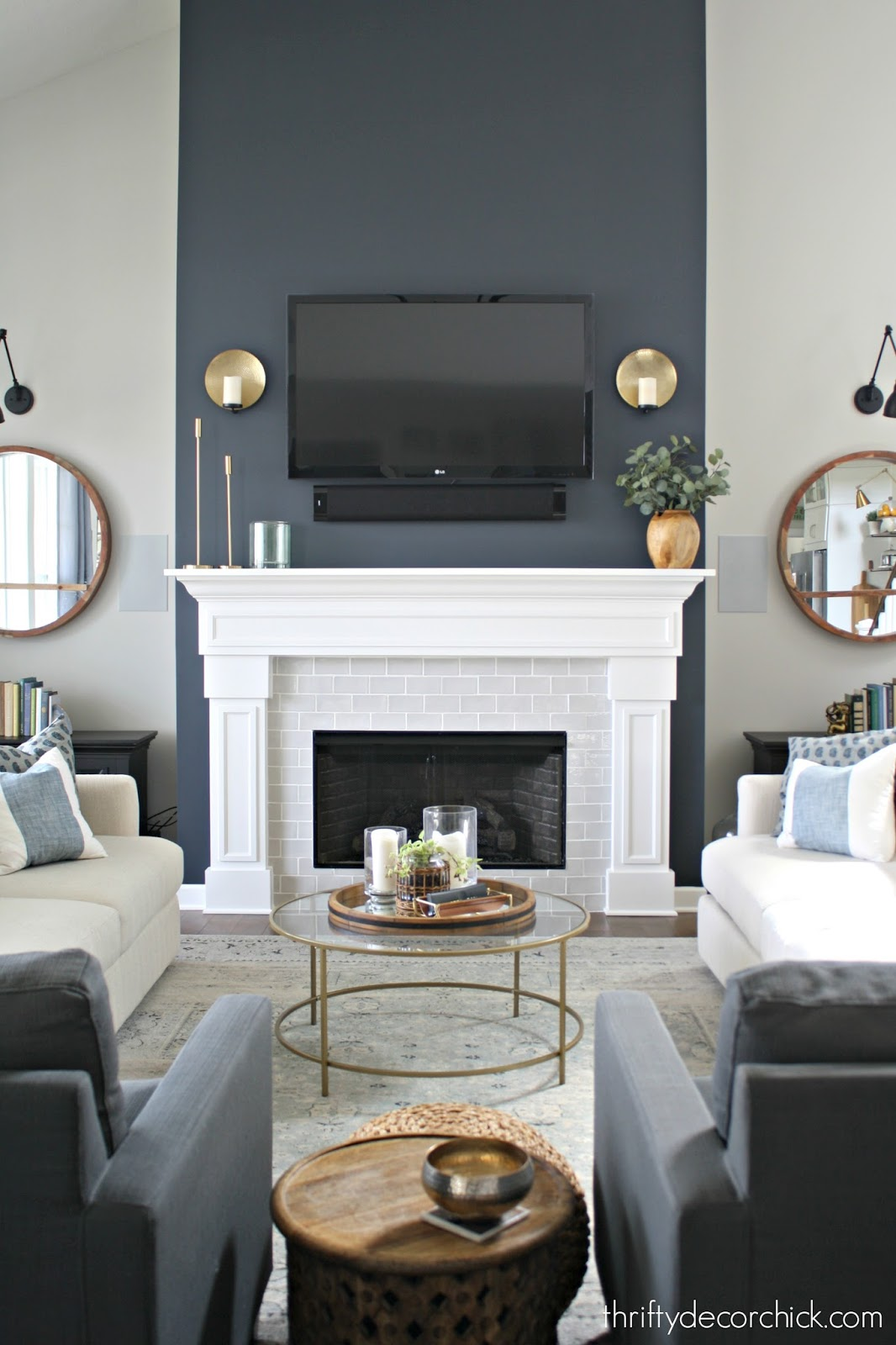 Dramatic Fireplace Transformation With Paint From Thrifty