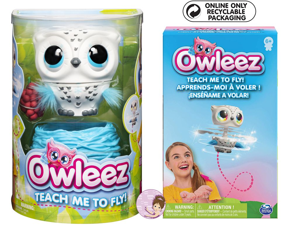 Owleez flying baby owl package regular and recycled