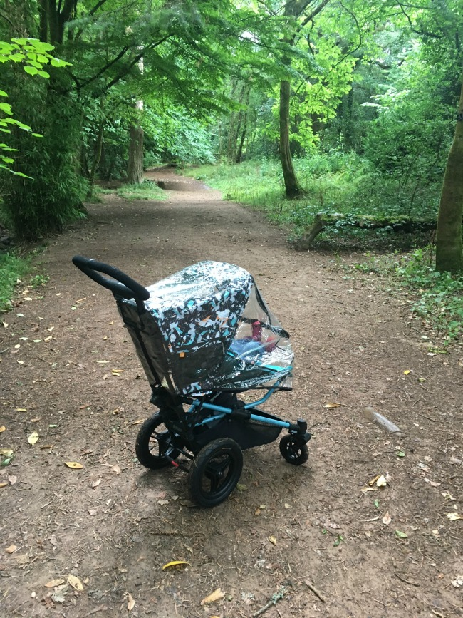 Micralite-Festival-Fastfold-Stroller-side-view-on-woodland-path