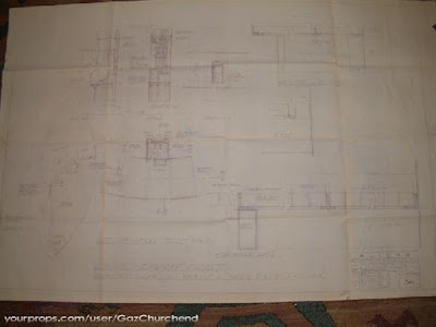 Alien explorations alien 3 blueprints alien 3 lead work mould blueprint original production material original blueprint showing lead work mould contact breaker closet details malvernweather