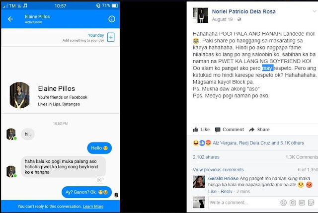 'Akala ko pogi, mukha palang aso!' A woman who was trying to look for a 'good-looking' guy, insulted this man after he failed to meet her expectations!