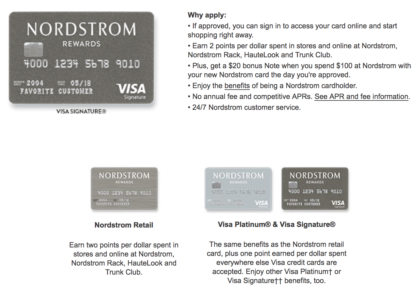 The different Nordstrom cards you can get