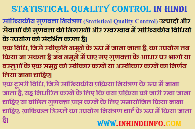 what is Statistical Quality Control in Hindi?