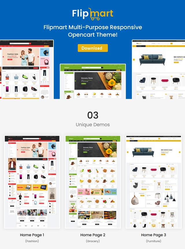 Supermarket OpenCart Theme